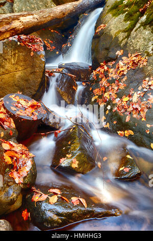 Close Up View of Small Waterfall on the Black River During Fall Season, Long Valley, Morris County, New Jersey