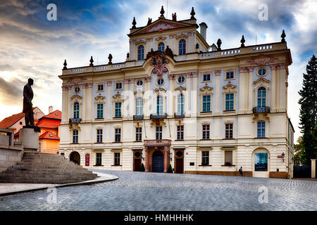 View of a National Gallery Buildinhg of Prague, Stemberg Palace,  Czech Republic - Stock Photo