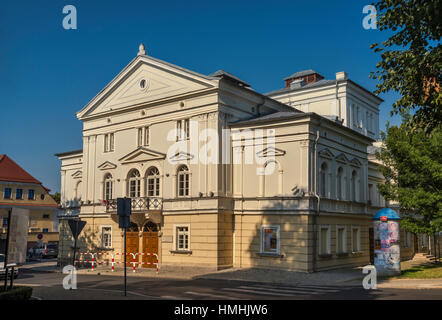 Old Theatre, 1822, Neoclassical style, former town arsenal, in Boleslawiec, Lower Silesia, Poland - Stock Photo