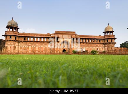 View of Jahangir Palace located in the Agra fort. Agra, Uttar Pradesh. India - Stock Photo