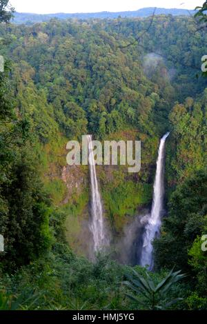 Tad Fane Waterfall, Boloven, Laos, South East Asia. - Stock Photo