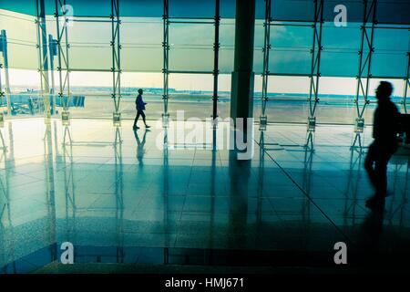 Terminal 2, Barcelona - El Prat Airport - Stock Photo