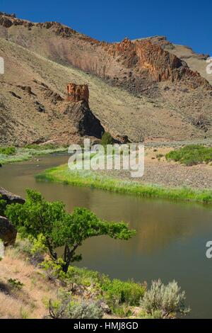 owyhee river at birch creek ranch owyhee wild and scenic river vale stock photo royalty free. Black Bedroom Furniture Sets. Home Design Ideas