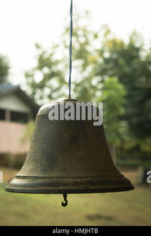 old bell school vintage photo look interest - Stock Photo