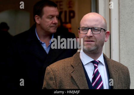 Ukip party leader and Stoke-on-Trent Central by-election candidate Paul Nuttall outside the Ukip offices in Hanley, - Stock Photo