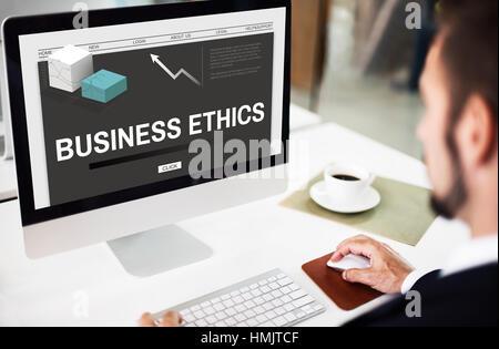 Business Ethics Strategy Development Concept - Stock Photo