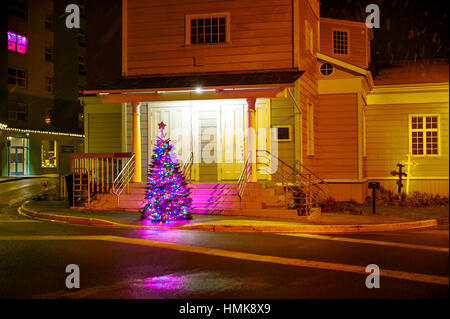 Christmas Tree At St Michaels Russian Orthodox Church In Sitka  - Michaels Christmas Lights