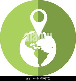 world global pointer map position shadow - Stock Photo