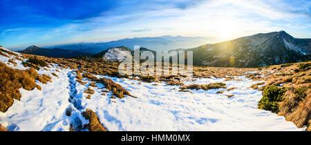 Fantastic landscape almost snow-capped - Stock Photo