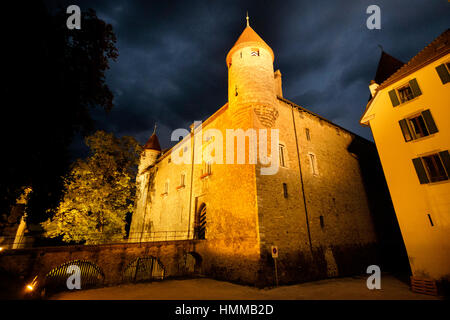 Switzerland, Canton Fribourg, Bulle - Stock Photo
