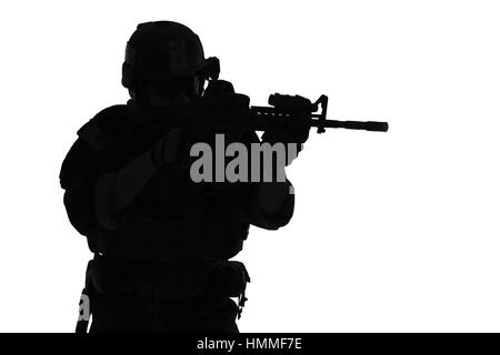 Marine Special Operator silhouette - Stock Photo