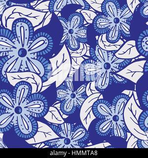 Boho Style Hand Drawn Seamless Pattern - Stock Photo