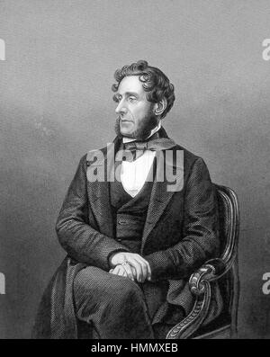 ANTHONY ASHLEY-COOPER, 7th Earl of Shaftesbury (1801-1885) English politician and social reformer - Stock Photo