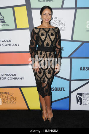 Hollywood, California, USA. 9th Feb, 2017. Mya. 8th Annual Essence Black Women In Music held at the NeueHouse Hollywood. - Stock Photo