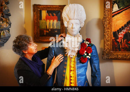 Oxfordshire, UK .10th Feb, 2017. A Passion for Fashion Exhibition at Blenheim Palace. 300 years of style displayed - Stock Photo
