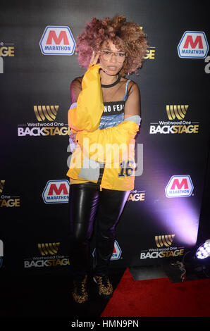 Los Angeles, California, USA. 9th Feb, 2017. Starley at Westwood One Backstage at the 2017 Grammy's Day 1 at the - Stock Photo