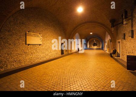 Kubicki Arcades (Arkady Kubickiego) interior of Royal Castle museum in Warsaw, Poland, Europe - Stock Photo
