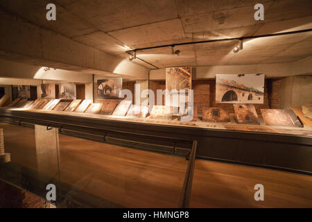 Kubicki Arcades of Royal Castle museum history in photography exhibition, Warsaw, Poland - Stock Photo