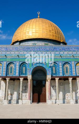 Entrance of the Dome of the Rock on the Temple Mount in Jerusalem, Israel - Stock Photo
