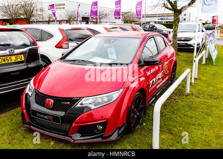 New Honda civic type R racing car performance car Honda showroom - Stock Photo