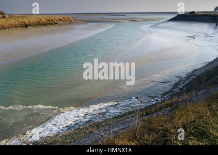Le Crotoy in Northern France Baie de Somme estuary - Stock Photo