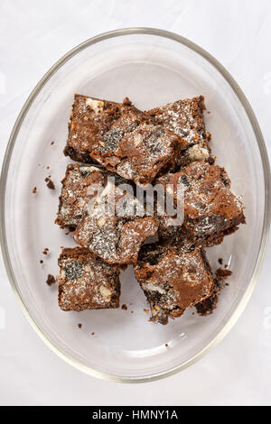 Delicious Freshly baked homemade cookies and cream brownies. - Stock Photo