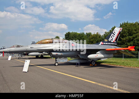 Royal Danish Air Force F-16 fighter jet - Stock Photo