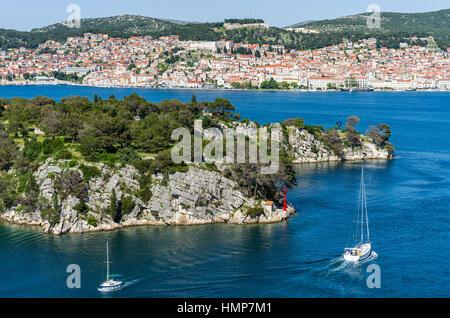 City of Sibenik, Adriatic coast, Croatia - Stock Photo