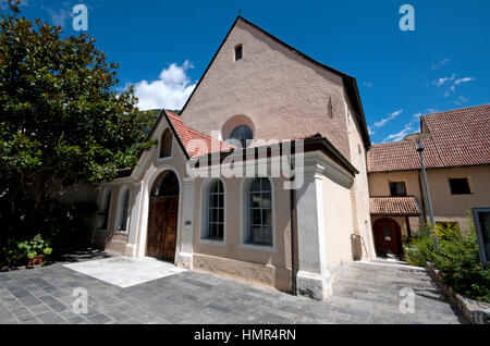 San Giovanni Battista church in Silandro (Schlanders), Val Venosta (Vinschgau), Trentino Alto Adige, Italy - Stock Photo