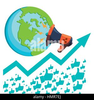 globe connections network image design - Stock Photo