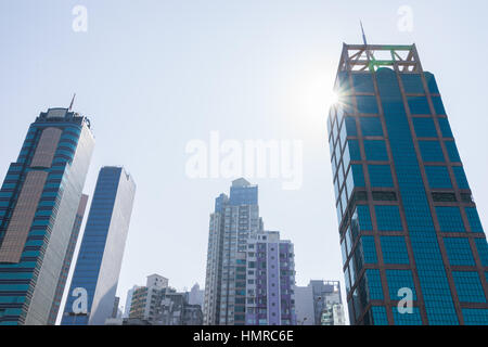 Cityscape from Sun Yat Sen Memorial Park in HongKong - Stock Photo