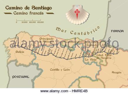 Map of Camino de Santiago. Map of Saint James way with all ... Camino French Way Map on nevada county map, thesis map, santa cruz map, egnatian way map, culver city map, columbia map, alpine map, fairfield map, cadiz spain map, el dorado map, madera map, volcano map, alturas map, grenada map, colton map, napa map, sierra city map, buena vista map, shasta map, canyon country map,