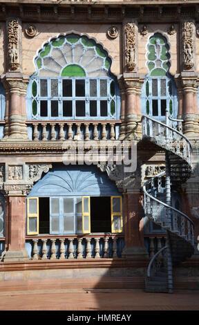 Yard of Mysore palace, India - Stock Photo