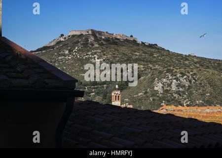 Europe, italy, tuscany, argentario, porto ercole, San Filippo fortress - Stock Photo