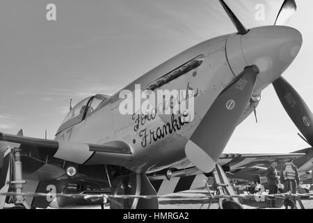 North American P-51 Mustang Ferocious Frankie - Stock Photo