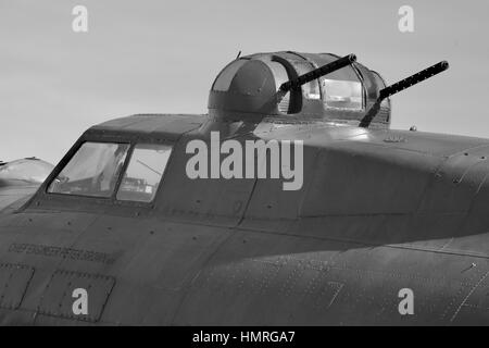 B-17 Flying Fortress gun turret - Stock Photo