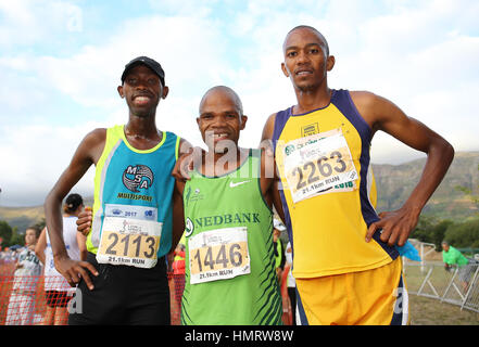 Local track and field athletics meeting in Parow, Cape Town, South Africa - Stock Photo