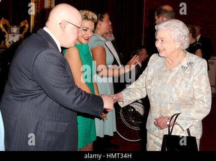 London, UK. 10th Feb, 2015. 10 February 2015 - London, England - A reception at Buckingham Palace in central London - Stock Photo