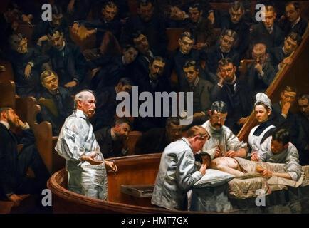 Thomas Eakins (1844-1916) 'The Agnew Clinic', oil on canvas, 1889 - Stock Photo