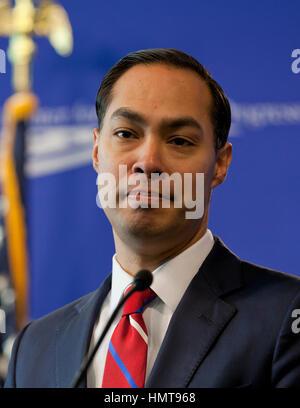 Julian Castro, Secretary of US Housing and Urban Development, 2014 to 2017. - Stock Photo