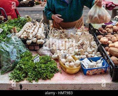 Fruit and Vegetable Market, Pula, Croatia - Stock Photo