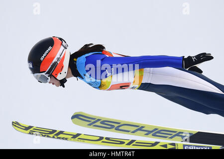 Almaty, Kazakhstan. 5th Feb, 2017. Yuka Kobayashi (JPN) at the 28th Winter Universiade Almaty 2017 Women's Team - Stock Photo