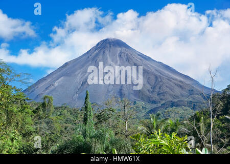 Arenal Volcano, Arenal Volcano National Park, La Fortuna, Alajuela Province, Costa Rica - Stock Photo