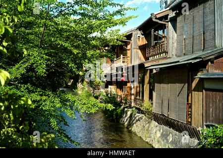 Shirakawa-minami-dori, One of the most beautiful and at the same time the most typical Japanese places is located - Stock Photo