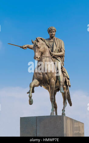 Jozef Poniatowski monument in the courtyard of the royal palace. Warsaw. Poland - Stock Photo