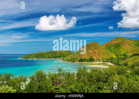 Praslin island at Seychelles - Stock Photo