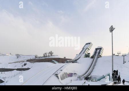 Sunkar International Ski Jumping Complex, Almaty, Kazakhstan. 5th Feb, 2017. General view, FEBRUARY 5, 2017 - Ski - Stock Photo