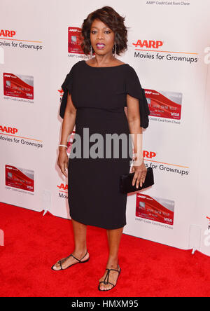 Los Angeles, USA. 06th Feb, 2017. Alfre Woodard 192 arriving at the 16th Annual AARP The Magazine's Movies For Grownups - Stock Photo