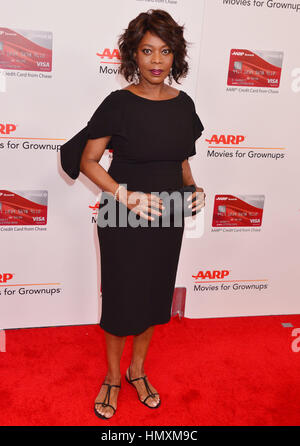 Los Angeles, USA. 06th Feb, 2017. Alfre Woodard 198 arriving at the 16th Annual AARP The Magazine's Movies For Grownups - Stock Photo