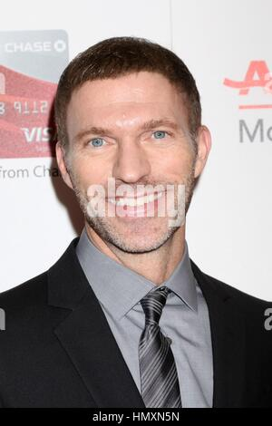 Beverly Hills, California, USA. 6th Feb, 2017. Travis Knight at arrivals for AARP The Magazine's 16th Annual Movies - Stock Photo